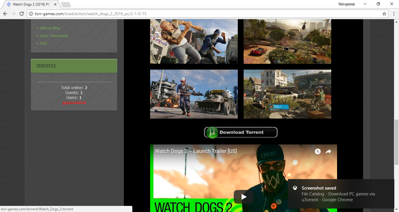 watch dogs pc game download torrent